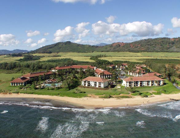 Kauai Beach Villas Aerial View