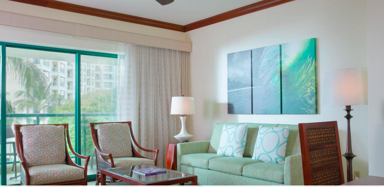 Marriott's Ko Olina Beach Club - Living Room