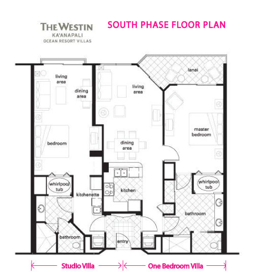 Vacation Rental at Westin Ka'anapolis Ocean Resort - South Phase Floor Plan