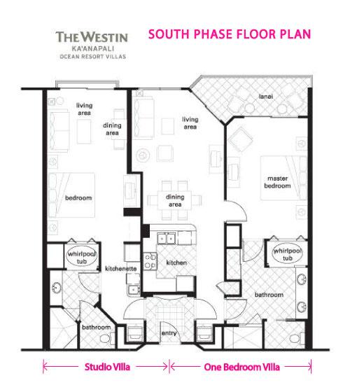 Westin ka 39 anapali ocean resort dream vacation villas for Oceanfront floor plan
