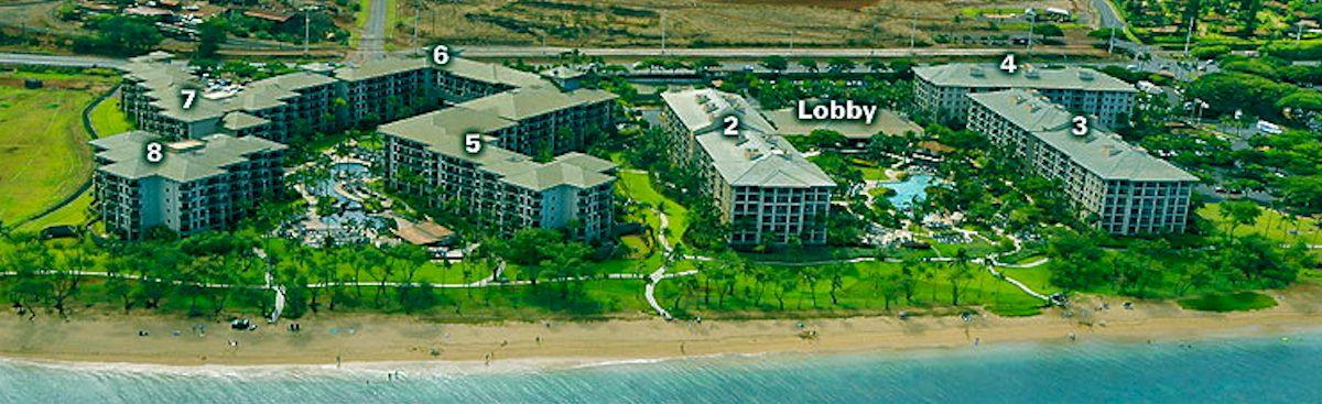 Aerial View of Vacation Rental at Westin Ka'anapali Ocean Resort Villas, Maui