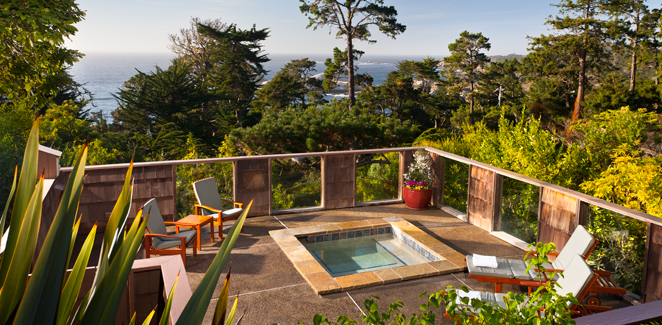 Hyatt Carmel Highlands Inn - Veranda Hot Tub