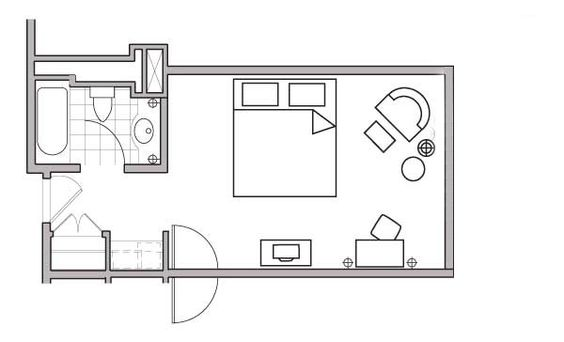 Vacation Rental on Oahu - Studio Floor Plan