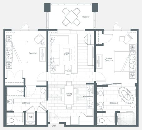 Bedroom Layout Dimensions
